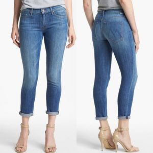 Mother Skinny Not Skinny Crop Jeans 27